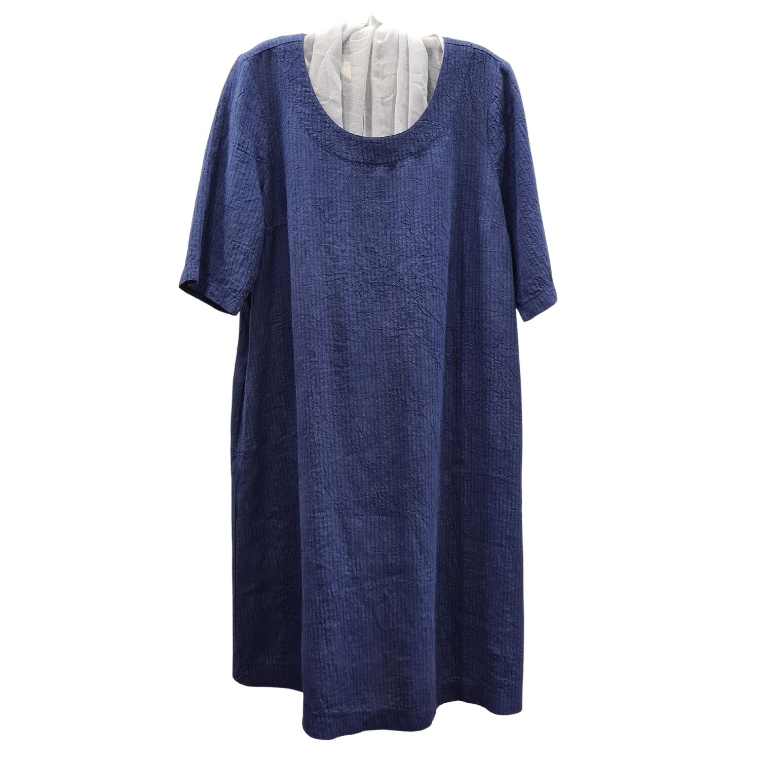 Crushed Linen Summer Dress with Pockets