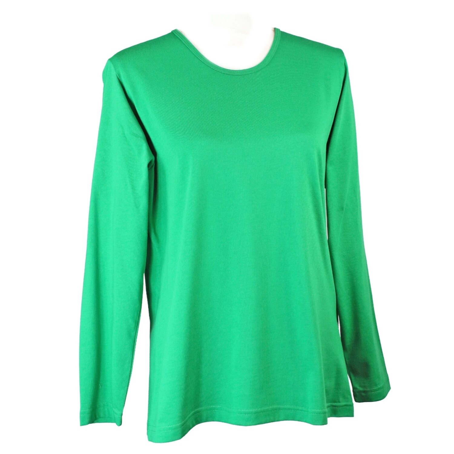 Soft Pure Cotton Long Sleeve Emerald Tee