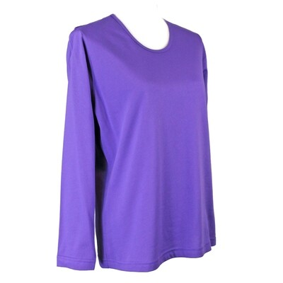 Soft Pure Cotton Long Sleeve Purple Tee