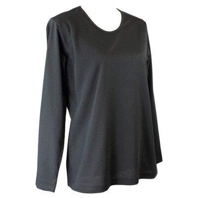Soft Pure Cotton Long Sleeve Black Tee