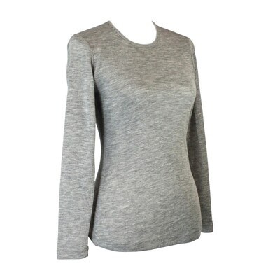 Pure Wool Knit Long Sleeve Top