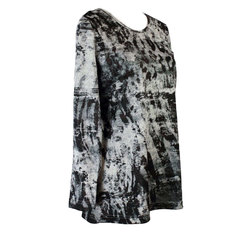Print Long Sleeve Tunic Top