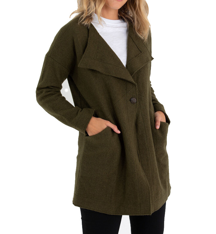 Boiled Wool Coat by Marco Polo