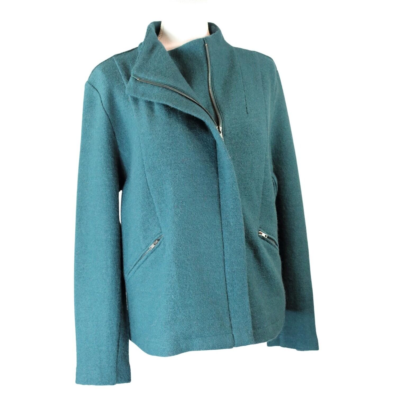 Boiled Wool Zip Jacket by See Saw
