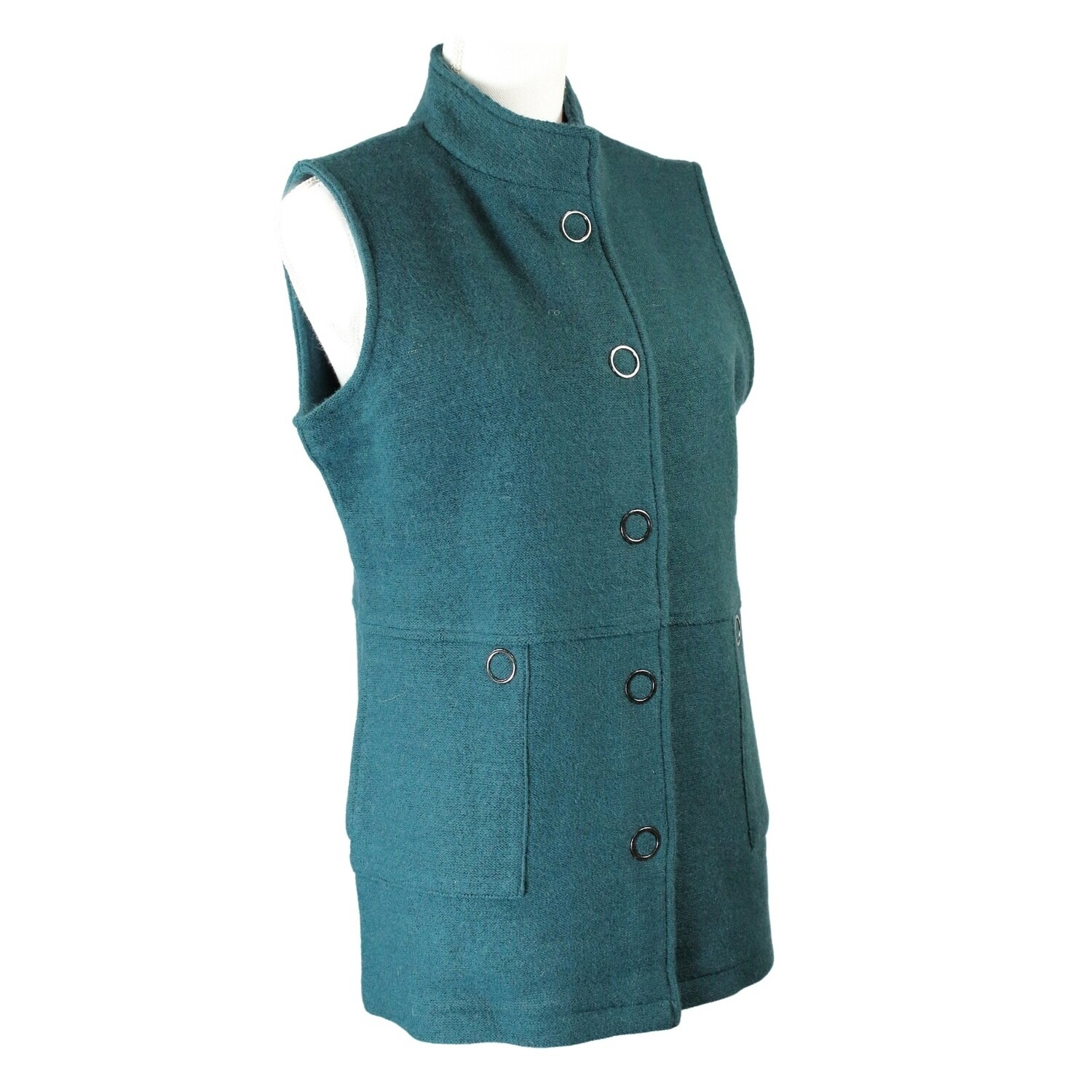 Boiled Wool Button Front Vest by See Saw