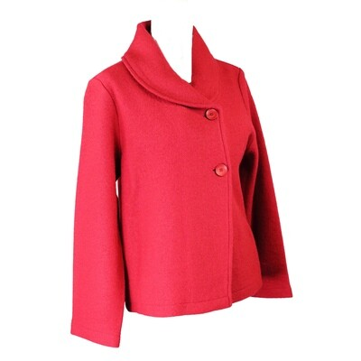 Boiled Wool Button Front Jacket by See Saw
