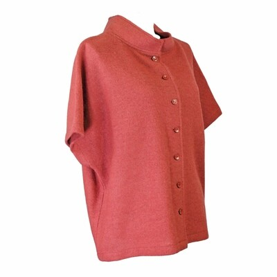 Boiled Wool Button Through Relaxed Vest by See Saw