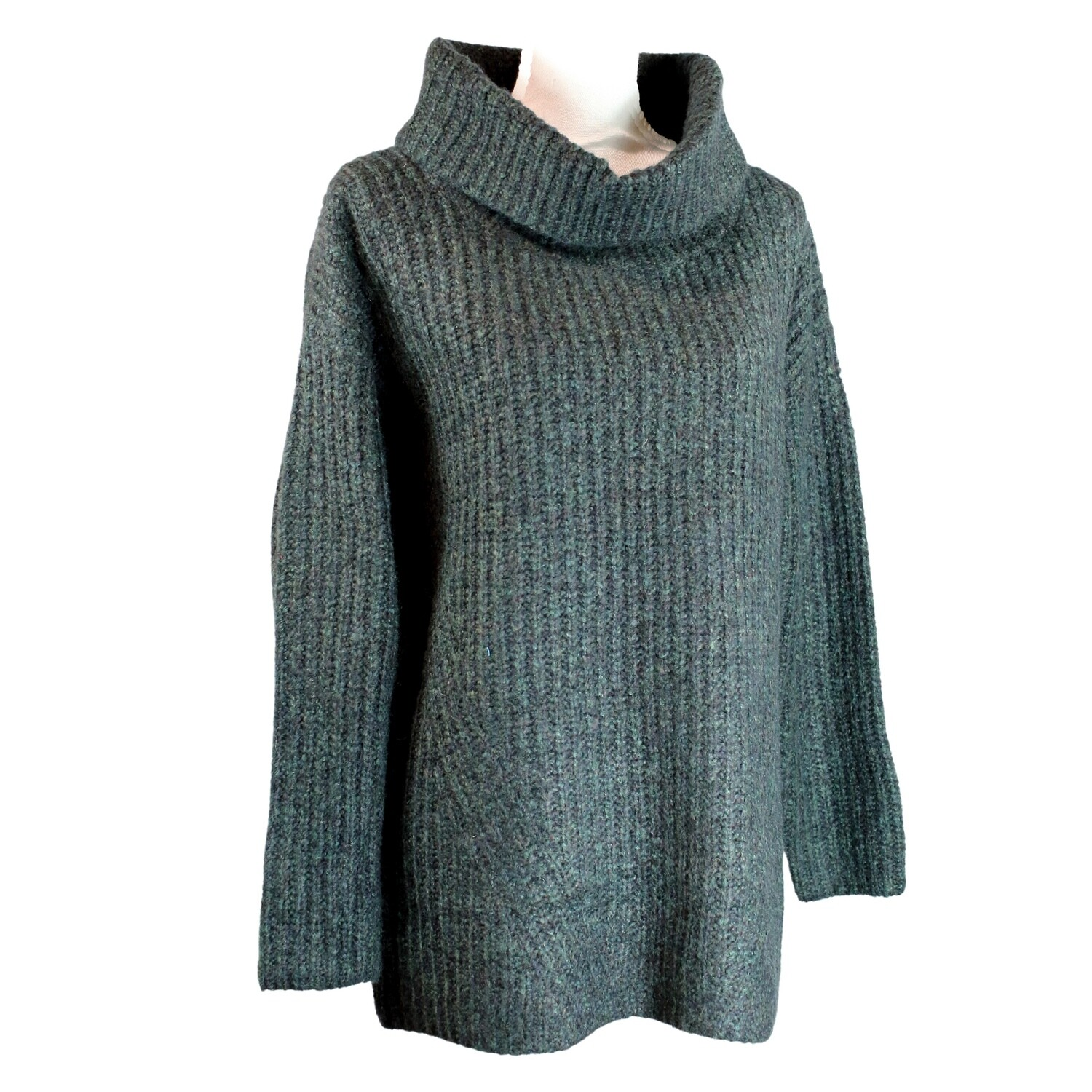 Mohair and Merino Blend Roll Neck Long Jumper by See Saw