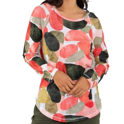 Glass Print Long Sleeve Tee by Yarra Trail