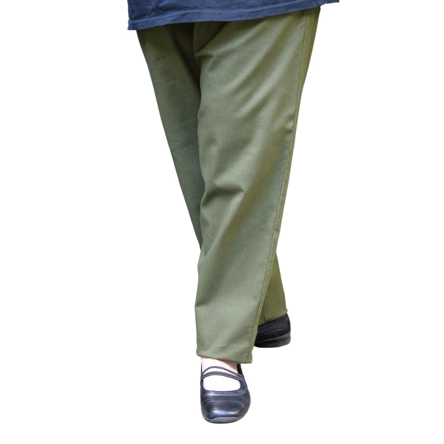 Pure Cotton Casual Pants with Pockets