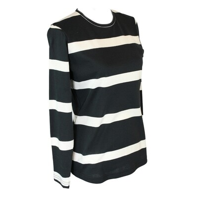 Pure Cotton Stripe Long Sleeve Tee