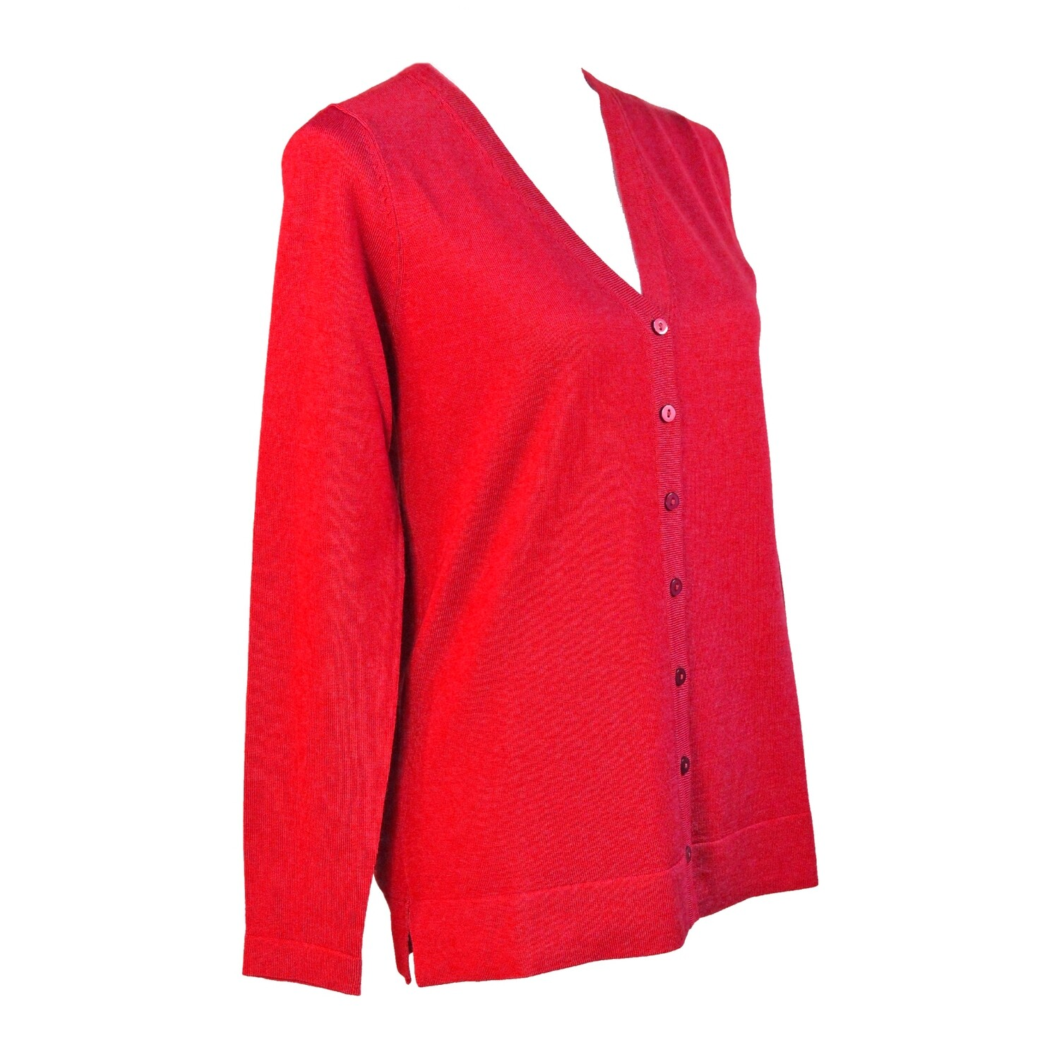 Pure Merino Wool Fine Knit Cardigan