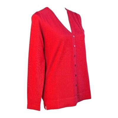 Pure Merino Wool Fine Knit Cardigan