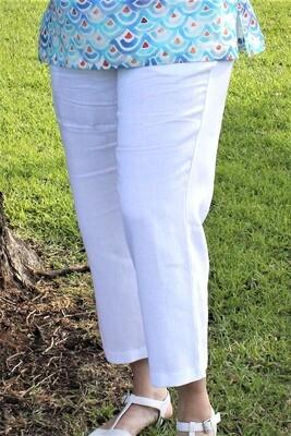 Pure Linen Cropped Pants