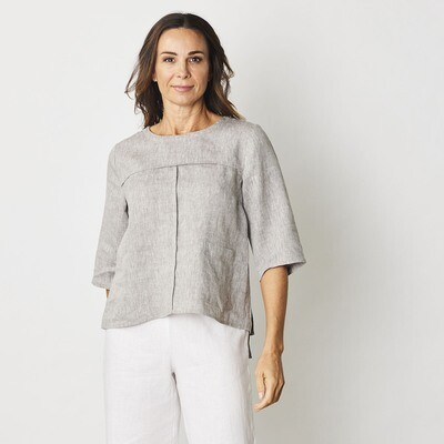Pure Linen Pocket Top by See Saw
