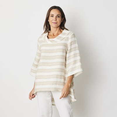 Cowl Neck Tunic Top by See Saw