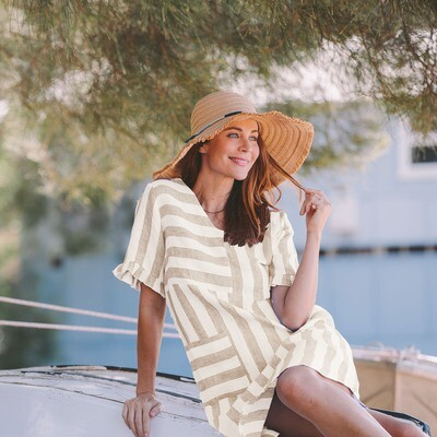 Pure Linen Stripe Dress by See Saw