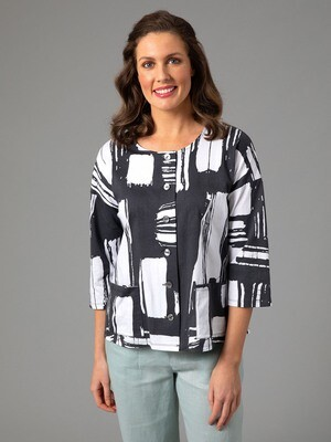Fracture Print Tee by Yarra Trail