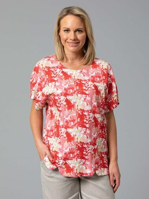 Cotton Blend Print Tee by Yarra Trail