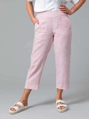 Fine Stripe Linen Pants by Yarra Trail