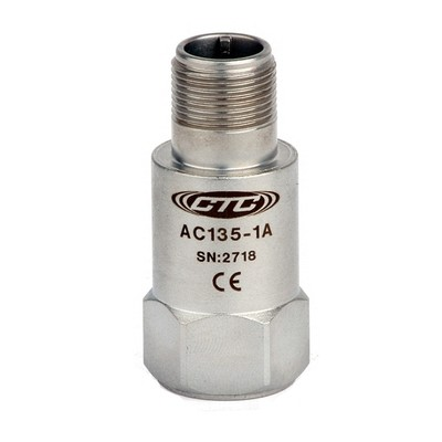 AC135 Series Low Frequency Accelerometer, Top Exit Connector/Cable, 500 mV/g