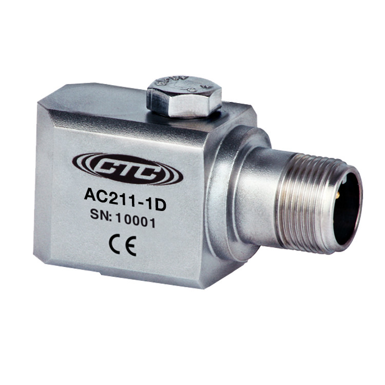 AC211 Series Premium Accelerometer, Side Exit Connector/Cable, 100 mV/g