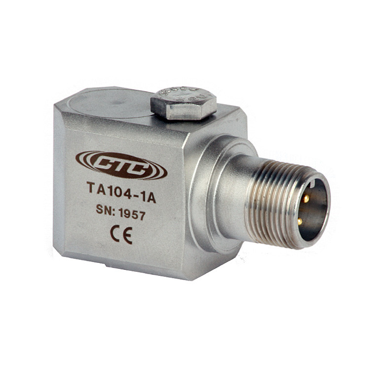 TA104 Series Dual Temperature/Acceleration Output, Side Exit Connector/Cable, 100 mV/g, 10 mV/°C