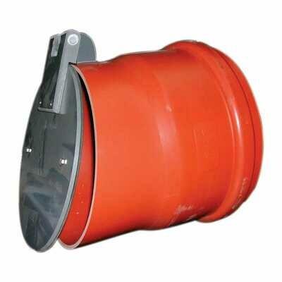 VALVOLA ANTIRITORNO D. 100 PVC CON O-RING