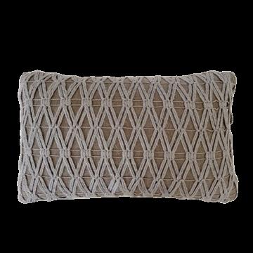 Almofada rim de tricot cinza