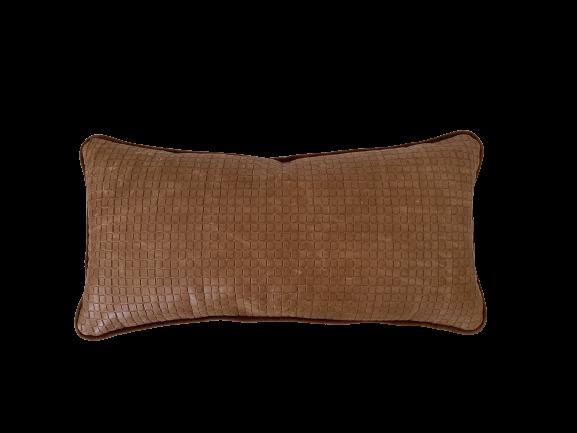 Almofada rim de couro estampado whisky