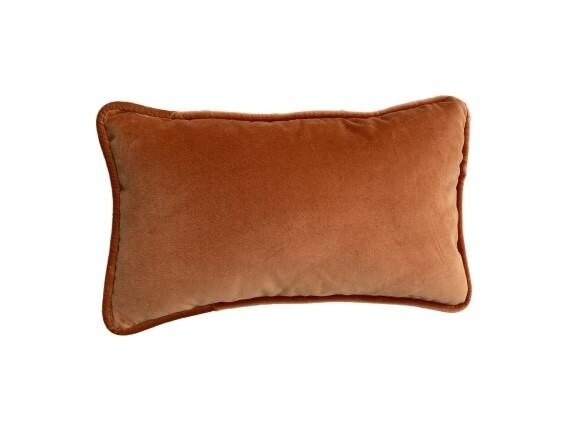 Almofada de veludo laranja