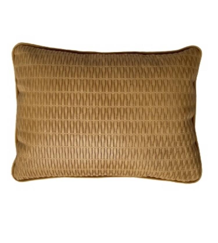 Almofada de rim couro estampado amarelo