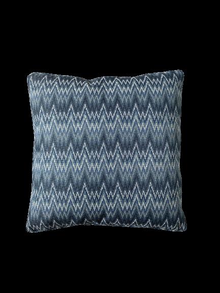 Almofada chevron azul