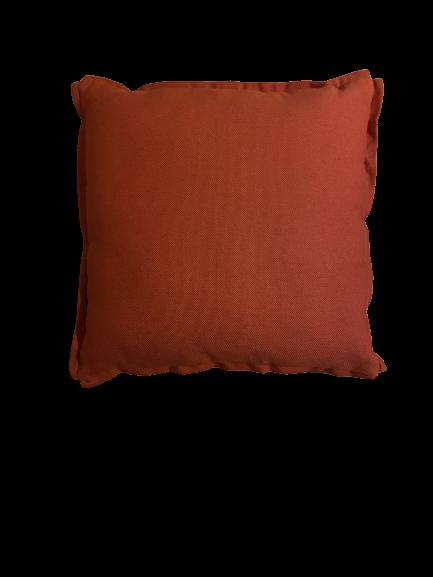 Almofada de linho terracota