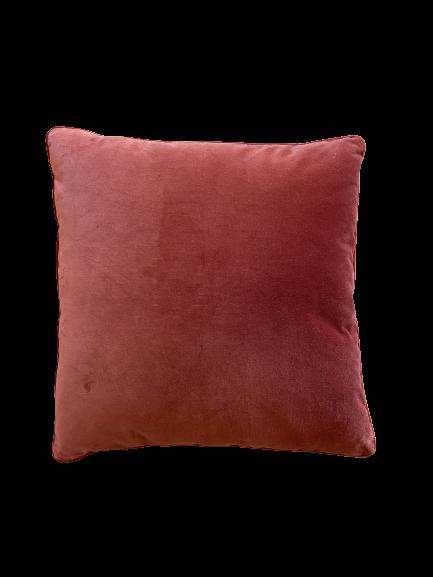 Amofada de veludo cor telha