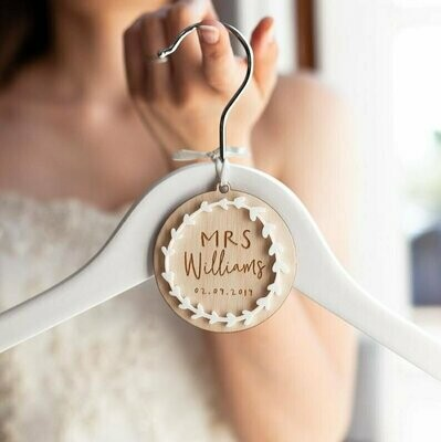 WEDDING HANGER TAGS