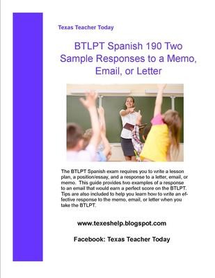 BTLPT Spanish Two Sample Responses to Email and Tips