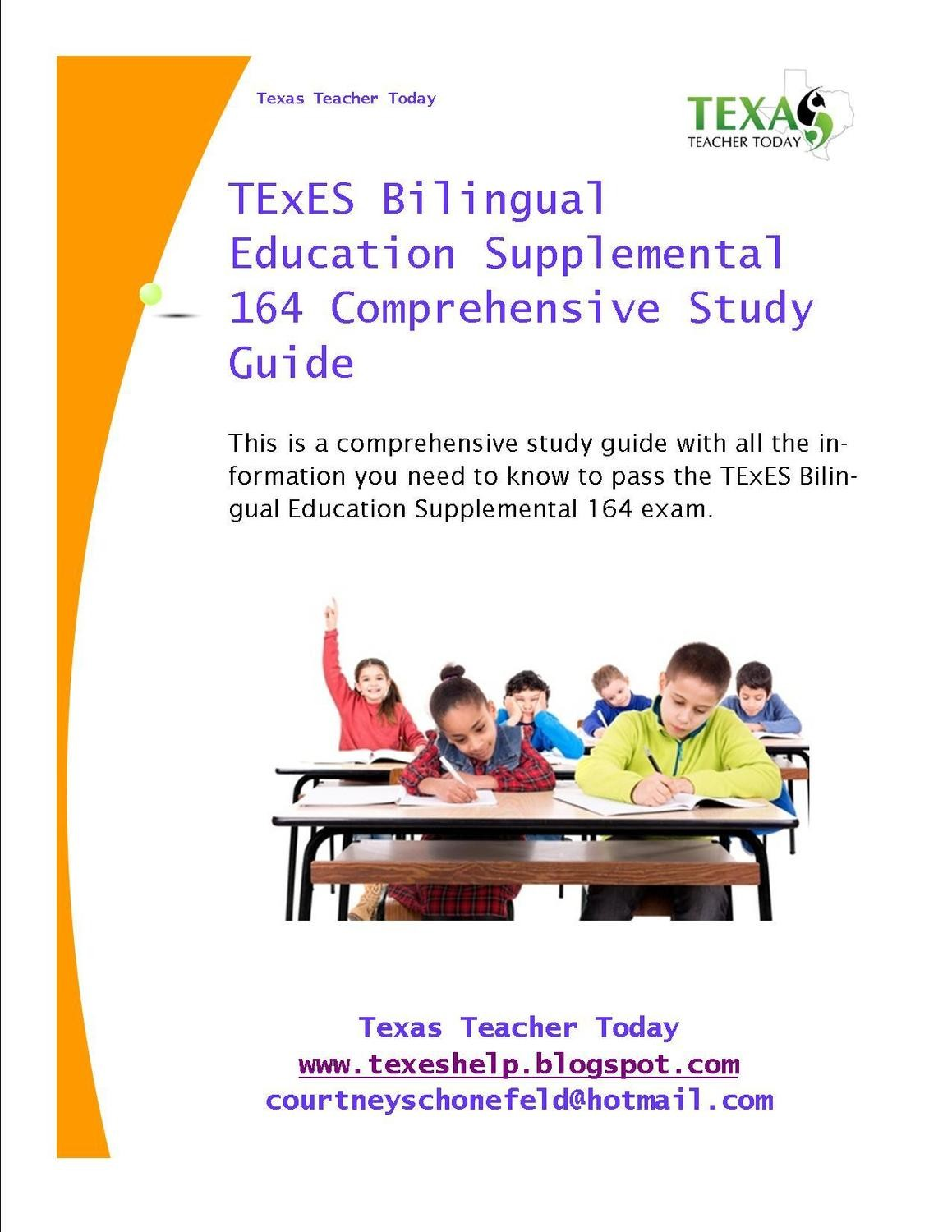 TExES Bilingual Education Supplemental 164 Comprehensive Study Guide