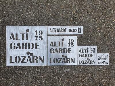 AltiGardeLozärn1975, Sprayvorlagen