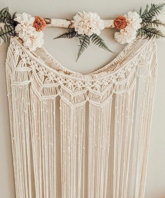 Curtain Macrame Floral Wall Hanging
