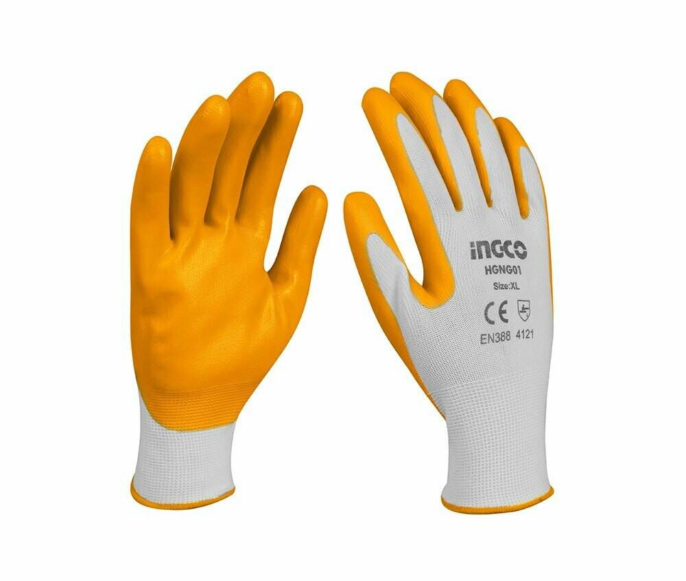 Нитриловые перчатки INGCO HGVN-01
