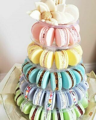 Macaron Half Tower - 95 Macarons Included