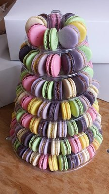 10 Tier Reusable Full Macaron Tower with Display Stand - Tower Only