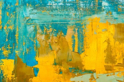 Yellow meets Blue 150 x 100 cm
