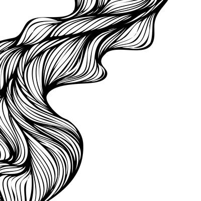 Abstract Lijnenspel 100 x 100 cm