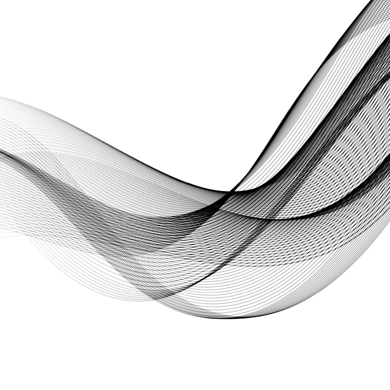 Abstract Lijnenspel 125 x 125 cm