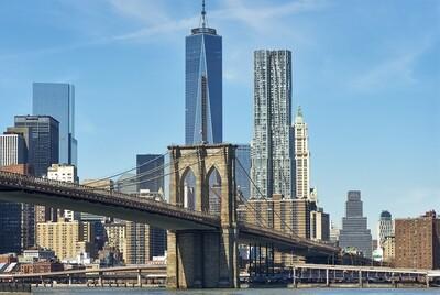 Brooklyn Bridge with Manhattan skyline 150 x 100 cm