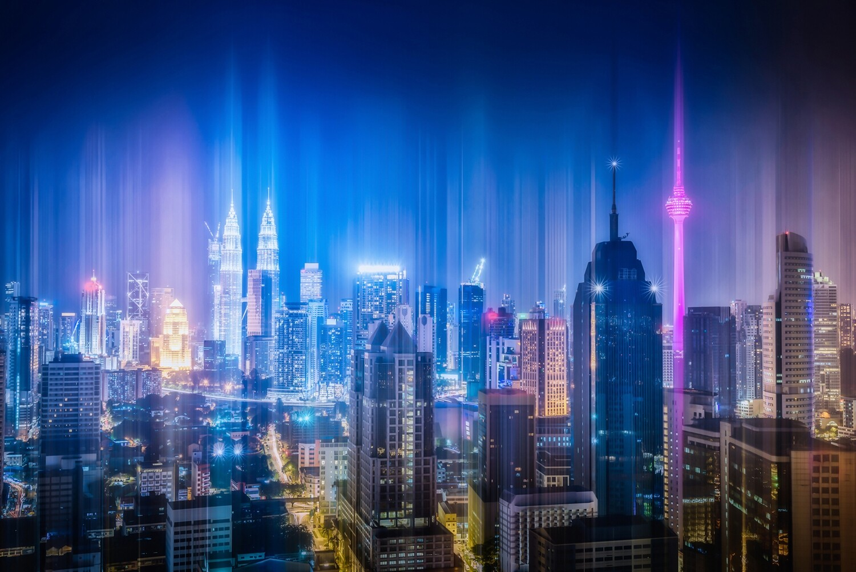 Kuala Lumpur city skyline 150 x 100 cm
