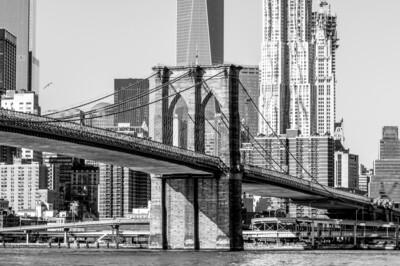 Brooklyn bridge and Manhattan skyline 150 x 100 cm