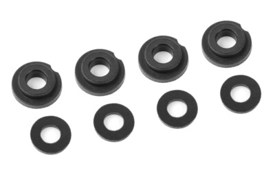 Team Corally Shock Body Insert - Washer - Composite - 1 set (4+4pcs)